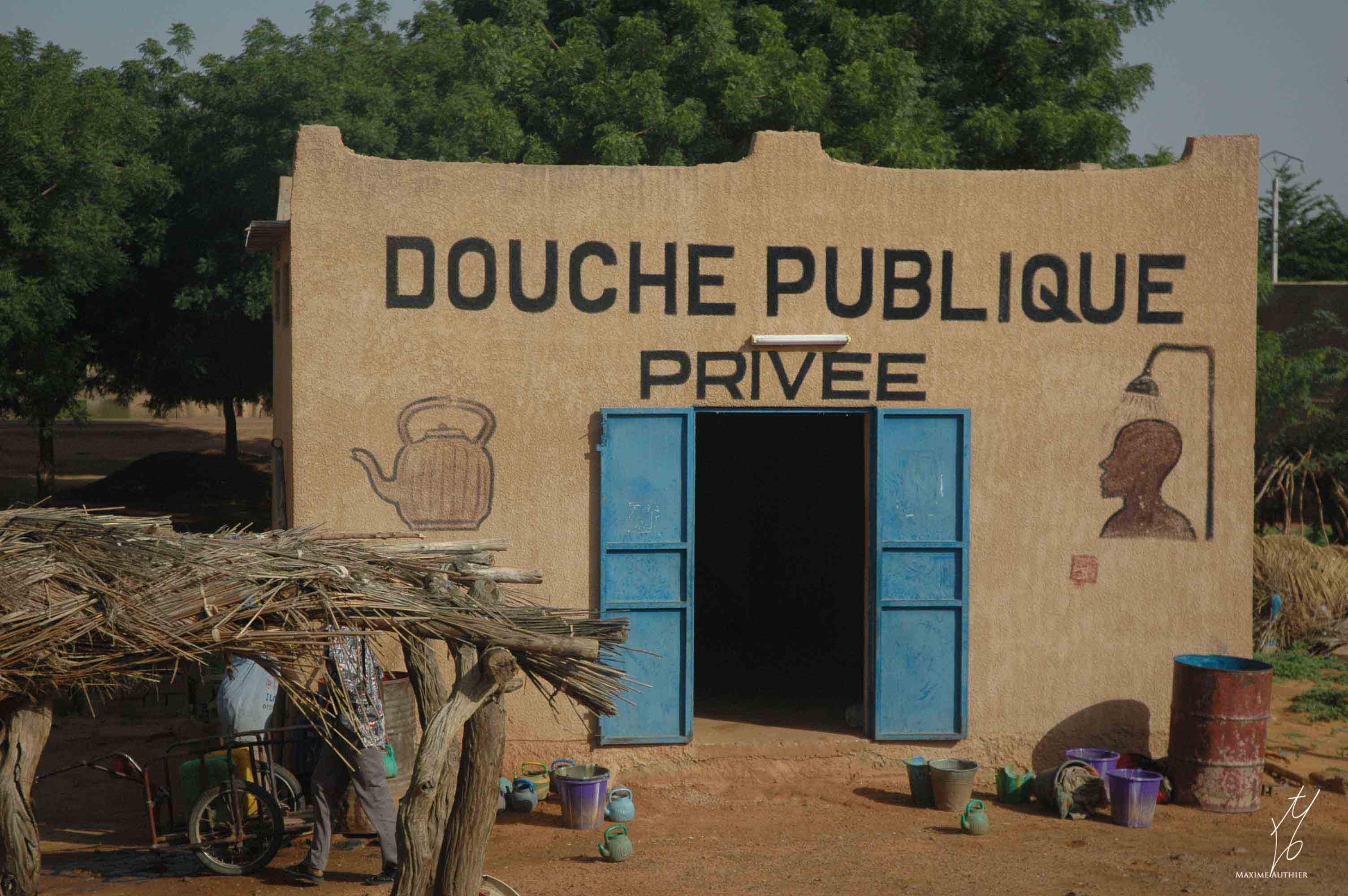 Photo d'une douche publique privée au Sénégal